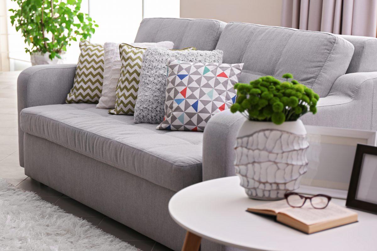 sofa in an Insulated garden office