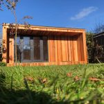 best garden rooms - concave garden room with storage