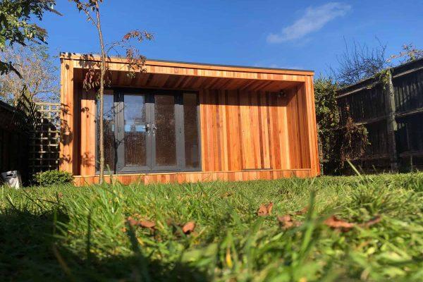 best garden rooms - concave garden room with storage